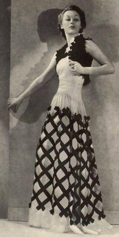 L'art et la mode, Juillet 1937, Gown by Paquin #1930sfashion