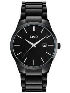 Oferta: 23€ Dto: -67%. Comprar Ofertas de CIVO Relojes Hombre con Lujo Correa de Acero Inoxidable Negro Fecha Calentario Reloj de Pulsera para Hombres Impermeable Casu barato. ¡Mira las ofertas!