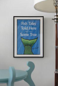 Artwork at Maine Cottage | Ramon Matheu - Fish Tails #mainecottage