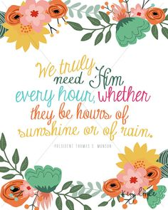 Printable Wall Art Sunshine or Rain LDS President by keylimedd