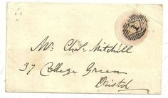* 1846 1d PINK COVER LONDON =1= IN DIAMOND DECORATED FLOWERS WAFER SEAL >BRISTOL   eBay