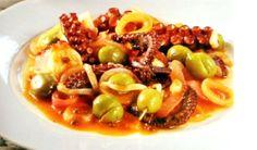 Συνταγή Σύρου: χταπόδι με πράσινες ελιές Macaroni And Cheese, Ethnic Recipes, Food, Mac And Cheese, Essen, Meals, Yemek, Eten