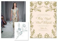 Marchesa Wedding Paper Divas Collection - Artful Florals