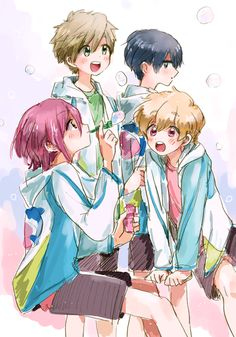 Free! ~~ Soap bubbles in between swimming