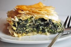 Spinach Pie Serves 8 as a side dish, or 4 as an entree Because my phyllo dough was already crumbling, I didn't take care to protect it while working with it. If yours is nice and fresh, keep the unused sheets covered while working on each sheet so it doesn't dry out and then wrap...Read the Rest »