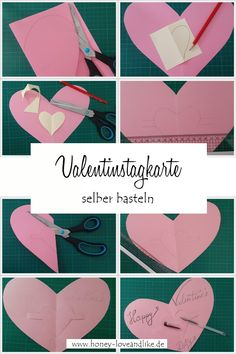 Valentines Day Food, Diy Food, Cards, Bricolage, Romantic Recipes, Simple Diy, Valentines Day, Make Your Own, Handarbeit
