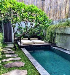 Green for backyard landscaping decoration small backyard - Petit bassin d eau dijon ...