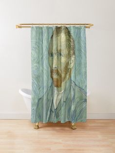 Self-Portrait painting by Van Gogh Shower curtain by Scar Design. #famouspaintings #art #artist #VanGogh #ShowerCurtain #Bathroom #bath #bathroomdecor #homedecor #homegift #home #living #findyourthing #gift Van Gogh Self Portrait, Gaming Posters, Nerd Gifts, Bathroom Bath, Canvas Prints, Art Prints, Vincent Van Gogh, Home Gifts, Curtains