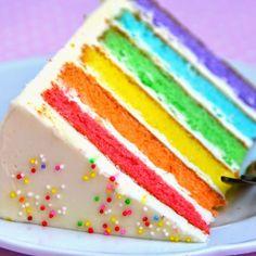 """""Today we are inspired by the rainbow cake by 🌈"" - ""Hoy nos inspiramos en la Tarta Arcoiris"""" Rainbow Desserts, Rainbow Food, Rainbow Cakes, Food Network Uk, Food Network Recipes, Surprise Cake, Hazelnut Cake, Cake Central, Chocolate Recipes"