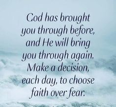 FAITH not fear. He has not given u a spirit of fear👊🏽 Thank U God, Jesus & The Holy Spirit ❤ Prayer Quotes, Bible Verses Quotes, Wisdom Quotes, Bible Scriptures, Religious Quotes, Spiritual Quotes, Positive Quotes, Spiritual Life, Positive Vibes
