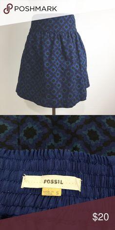 FOSSIL PRINTED SKIRT GUC Fossil Skirts Mini