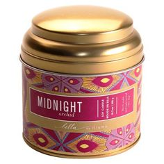 Tea Tin Midnight Orchid