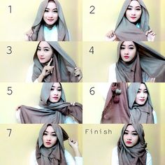 This hijab wrap is so gorgeous and classy for either casual or evening looks, it's beautifully loose and adds a stylish touch all over the face. Follow the step by step pictorial below to get the look by yourself …