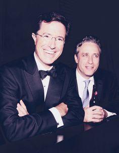 Stephen Colbert and Jon Stewart - how I get the news