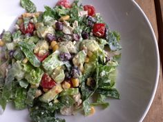 love the idea of adding beans and corn to the salad, plus great tip for 'roasting' chicken in the recipe