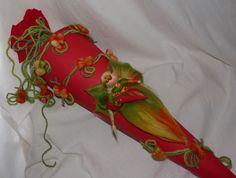 Schultüten - SCHULTÜTE FEE*Elfe*Märchenwolle*Waldorf Art* - ein Designerstück von Holzwolle-Spielkunst bei DaWanda