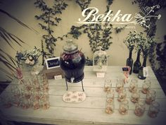 Drinks table / barra de bebidas / Ideas para bodas