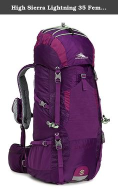 High Sierra Lightning 35 Female Pack, Eggplant/Berry Blast/Lime. High sierra designs feature-rich, versatile adventure lifestyle gear for adventurers everywhere. Since our founding in 1978, we've committed ourselves to creating durable, affordable product with distinctive details, delivering the freedom to go anywhere-near or far, on roads or trails, on mountain ridges or snowy slopes, no matter what form your adventure takes.