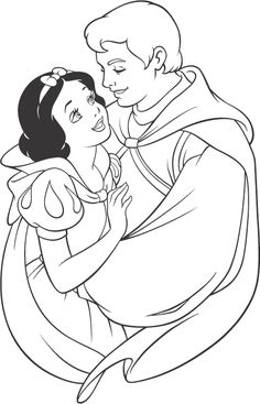 Snow White And Prince Charming Coloring Pages