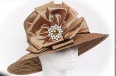 Church Ladies In Hats | Sunday Ladies' Church Hats, Fashion Satin Braid Women Church Hats ...