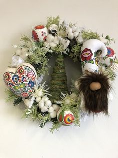 Unique Wreaths, Ornaments, Signs and Centerpieces by TapsikDesign Christmas Wreaths For Front Door, Christmas Decorations For The Home, Holiday Wreaths, Spring Wreaths, Christmas Gifts For Mom, Christmas Holiday, Christmas Ideas, Witch Decor, Mom Birthday Gift