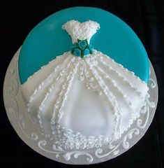 Classy Bridal Shower Cake Decorating Ideas regarding Wedding Shower Cake-Simple, Yet Classy Absolutely One Of My Picture Pretty Cakes, Beautiful Cakes, Amazing Cakes, Wedding Shower Cakes, Wedding Cakes, Wedding Dress Cake, Breakfast At Tiffanys, Breakfast Cake, Love Cake