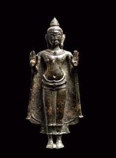 Khmer Bronze Sculpture of the Buddha Origin: Cambodia Circa: 1200 AD to 1300 AD