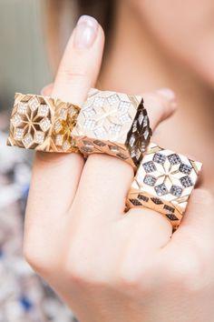 Unique geometric ring design with diamonds and gold by Lebanon interior designer… - Fine Jewelry High Jewelry, Metal Jewelry, Jewelry Art, Jewelry Accessories, Fashion Jewelry, Arabic Jewelry, Gold Jewellery, Bijoux Design, Schmuck Design