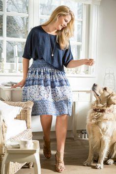 BURDA - Smocked Waist Skirt (Plus Size) 05/2015 #130