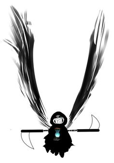 renrink: *hello, did you fall down from heaven? because you look like an angel. oh wait. that'd be me–gracing your presence at the end of your time. heheh, are you ready?Angel of Death Sans, at your service~