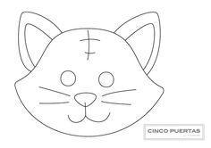 Cinco Puertas: Szablon kota - wzór do wydrukowania.