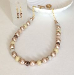 Hey, I found this really awesome Etsy listing at https://www.etsy.com/listing/210222931/glass-bead-pearl-necklace-set-beaded