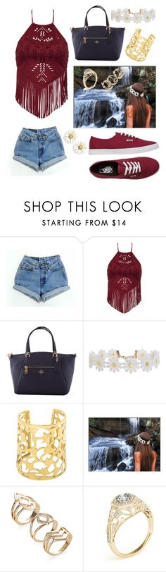 """Sweet"" by gabbyr519 ❤ liked on Polyvore featuring Kate Spade, Levi's, Coach, Humble Chic and Vans"