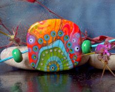 °° TRIPPY °° focal lampwork bead by jasmin french