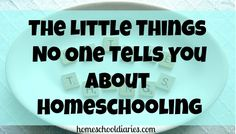 The Little Things No One Tells You About Homeschooling