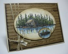 Lakeside Cabin Bday for Son Stampscapes