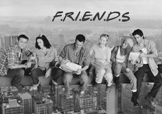 Black TV Shows 2012 | Buy FRIENDS Black and White Poster | Buy Friends TV Show Posters ...