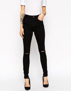 Is 25 too old to be buying distressed black skinny jeans?