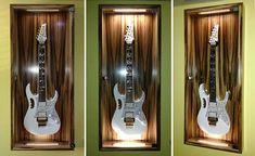 DIY Display Cases Ideas to Save Your Stuff Tags: Action Figure Display Cases Guitar Display Case, Guitar Storage, Wooden Display Cases, Glass Display Case, Guitar Wall, Guitar Room, Action Figure Display Case, Countertop Display Case, Music Man Cave