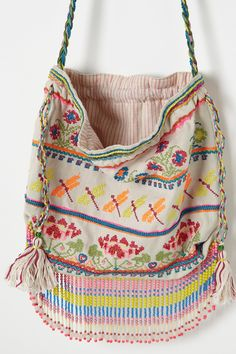 Kiki Embroidered Pouch - Anthropologie.com