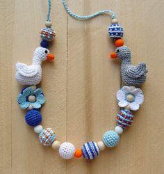 Nursing necklace Babywearing necklace Breastfeeding by NittoMiton