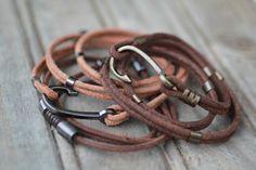 Bracelets, Leather, Jewelry, Fashion, Men's Wristbands, Moda, Jewlery, Bijoux, Fashion Styles