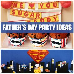 Father's Day Party Ideas & Printables  Celebrate Daddy with these 13 Father's Day party ideas - with free printables!