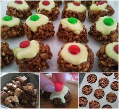 Mars Bar Christmas Crackle Puddings