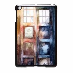 Protective Doctor Who Watercolor Tardis iPad Mini Case