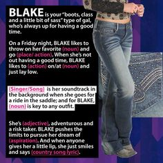 Meet BLAKE...Fill-in-the-Blank #2!  Winners will be announced at the end of the month. Loving all of the responses thus far. #crueldenim