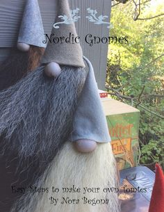 Scandinavian Gnome Pattern  Nordic Gnome  Digital by mamatitina
