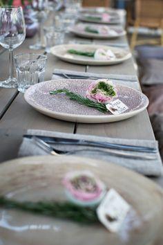 Gorgeous Wonki Ware garden table arrangement. Definitely doing this for an outdoor summer wedding reception!