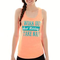 Chin-Up Knit Tank Top   found at @JCPenney