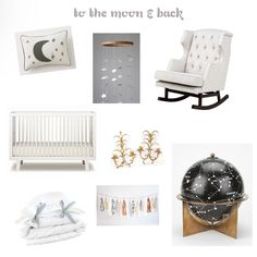 To The Moon And Back Star Themed Nursery Design Inspiration E